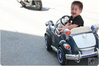兒童超跑看到警車一樣要停下來-復古警車開箱-回花蓮上路試跑
