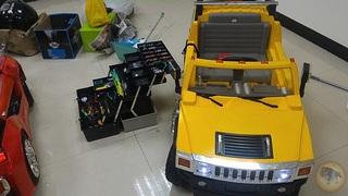 兒童超跑-維修改裝-6V悍馬改12V-一對一遙控-雙驅-發泡胎