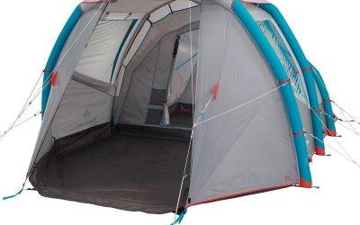 QUECHUA迪卡儂4.1充氣帳篷使用心得與優點缺點-4人1房1廳家庭